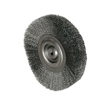 ATORN Rundbürste Durchmesser 150 mm, Bohr.32 mm Gewellter Stahldraht ...