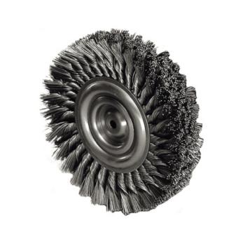 ATORN Rundbürste Durchmesser 150 mm, Bohr.20 mm Gezopfter Stahldraht ...