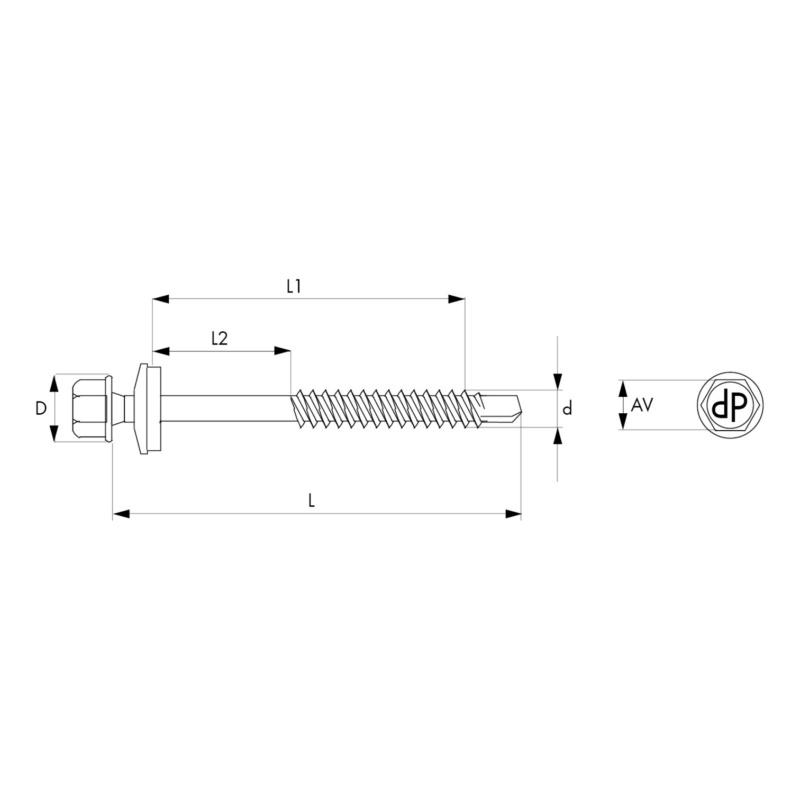 Elementtiruuvi ruostumaton A2 PIASTA - PIASTA A2 TIIV/19 5,5X140/5