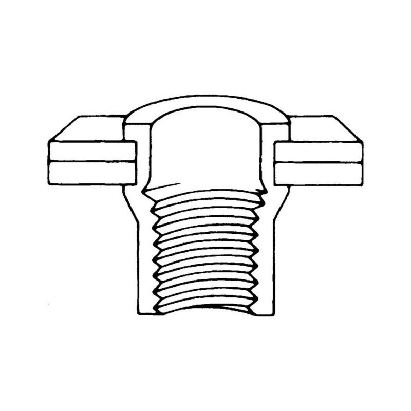 Buy Rivet nut, steel, countersunk head open (84056 40) online