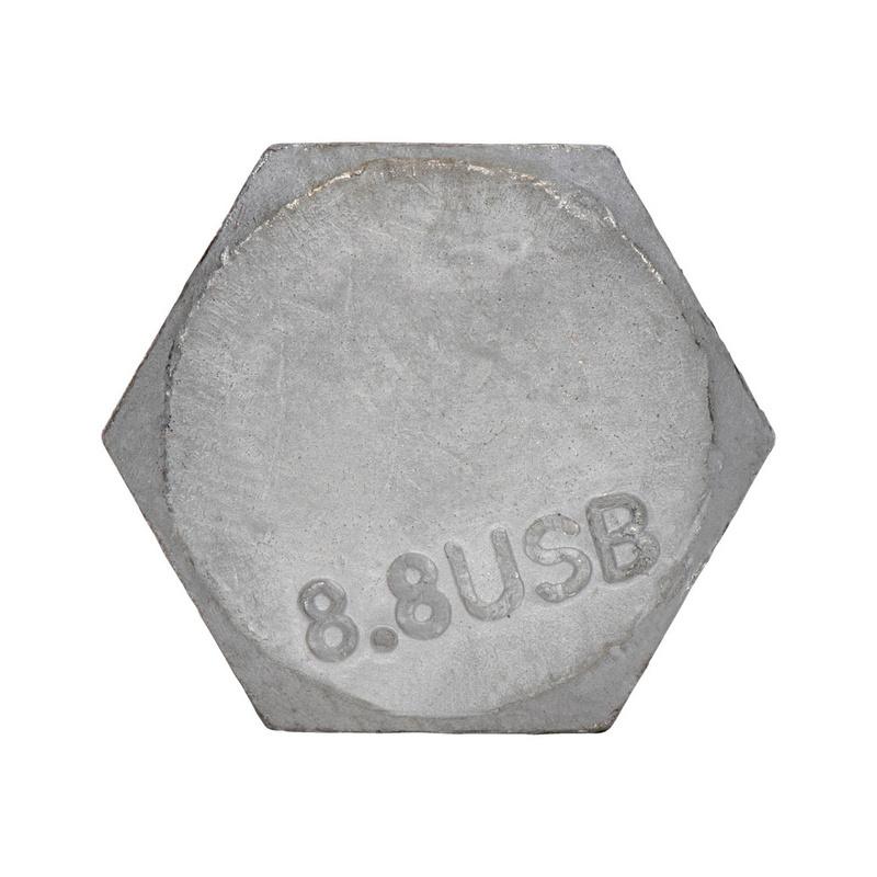 SB-ruuvikokoonpano, täyskierre Teräsrakenteiden esijännittämättömiin liitoksiin - SB-SETTI EN 15048 8.8 HOT M20X60 TÄYSK