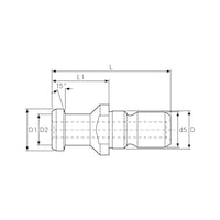 pull stud for steep taper DIN 69872 shape A