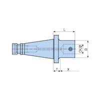 323.781 BIG KAISER, Schaft, SK50/M24 X CKS7 X 160