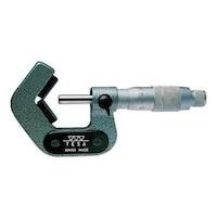 TESA külső kengyeles mikrométer 3 irányú prizmás munkadarabokhoz, 1-7mm, tokkal