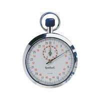 Chrono remontoir HANHART, boîtier métal, 7rubis, gr. 1/10s, durée disp. 15min.