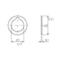 ORION Ringe für Fräsdorne 13 x 0,05 mm Form A DIN 2084