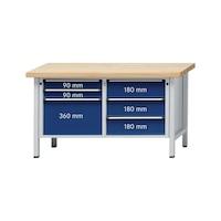 ANKE çalışma tezgahı, 207 V modeli, panel sert kay. 1500 x 700 x 900 mm