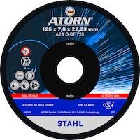 Disque à meuler ATORN 125 x 7,0 x 22,2mm dur, pour métaux