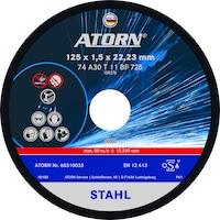 Disque à tronçonner ATORN pour métal 230 x 1,9 x 22mm disque universel