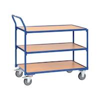 Tischwagen 2752 Ladefläche 1.000x600 mm mit 3 Böden, Griff hochstehend