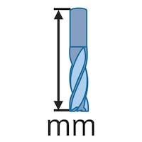 ATORN VHM-Torusfräser, Standard Durchmesser 10,0 x 22 x 75 mm r1,5 Z=4 RT52