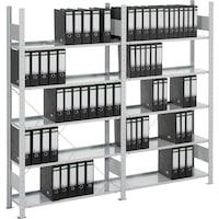 META S3 Bürosteckregal verzinkt mit 7 Böden Grundregal HxLxT 2500x1250x300