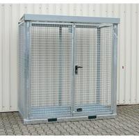 Gasflaschencontainer 2115x1155x2260 mm mit Gitterrostboden