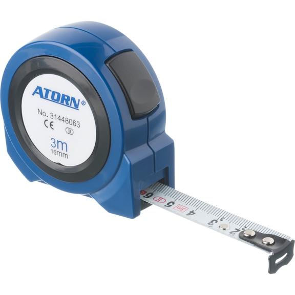 ATORN Rollbandmaß 3 m EG-Klasse II Self Lock