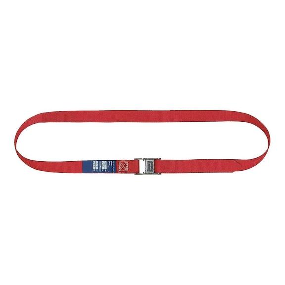 Lashing strap with clamp. lock 1 pc 5 m belt w. 25mm tensile force max. 250 daN -