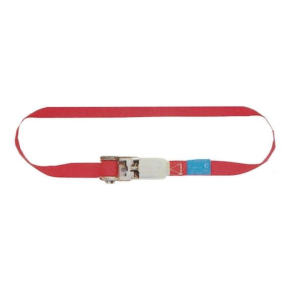 Ratchet strap 1 pc 5 m belt width 25 mm polyester tensile force max. 500 daN -
