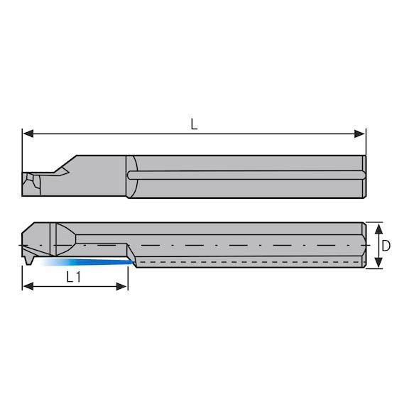 ATORN Mini-Schneideinsatz AIR 7,0mm L25 2 TR HC5615 - Miniaturschneideinsatz Typ AI HC5615