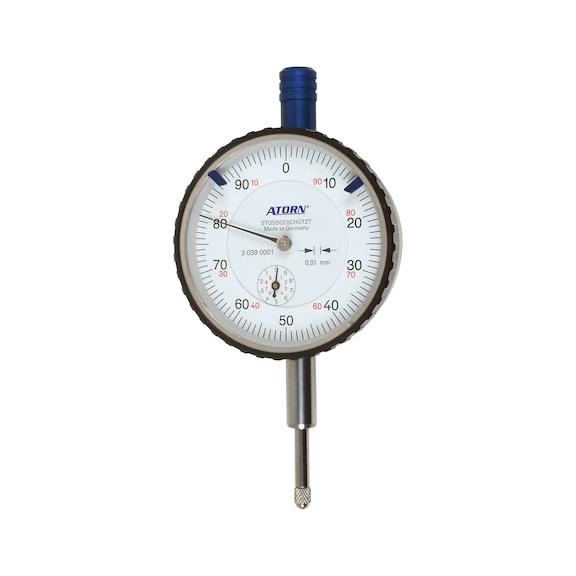 Comparateurs ATORN plage 10mm pas 0,01, pr. antichoc, dia. ext. 58mm -
