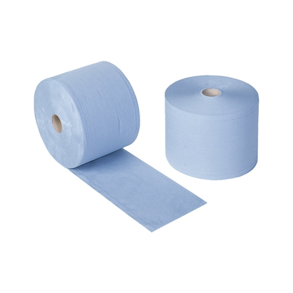 Paper towels, blue, on roll 36 x approx. 36 cm, 3-ply, 1000 sheets -