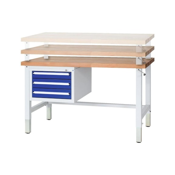 Pleasing Hk Workbench Height Adjustable 2 Drawers 1500X700X740 Short Links Chair Design For Home Short Linksinfo