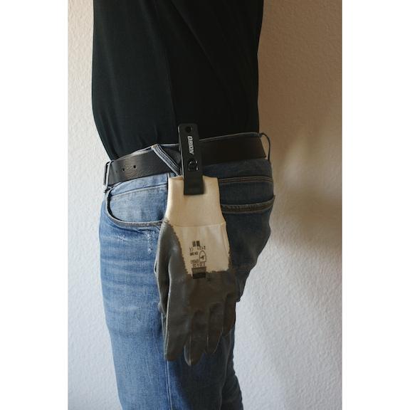 ORION Handschuhhalter aus robustem und schlagfestem Polycarbonat, anthrazit - Handschuhhalter