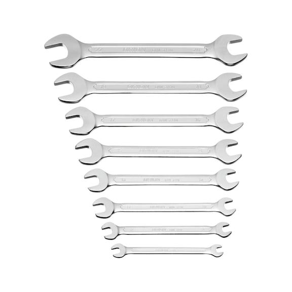 ORION Doppelmaulschlüssel-Satz 8-teilig 6x7-20x22 mm DIN 3110