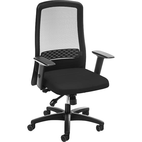 Bürodrehstuhl Fünffußkreuz mit Rollen mit atmungsaktiver Netz-Rückenlehne