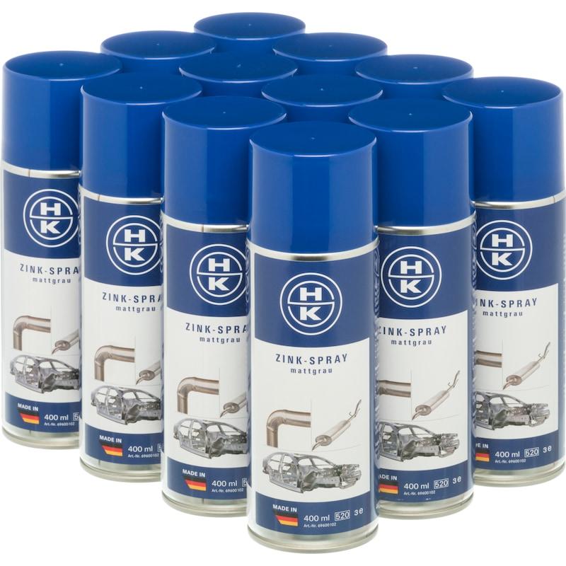 HK zinc spray, matt grey, 400 ml, 12 pack - Zinc spray, matt grey