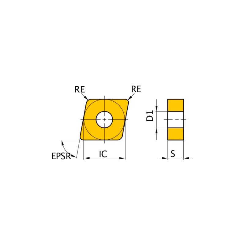CNMG120412-MW US7020 MITSUBISHI, WSP, Drehen, beschichtet - CNMG, Wendeschneidplatte