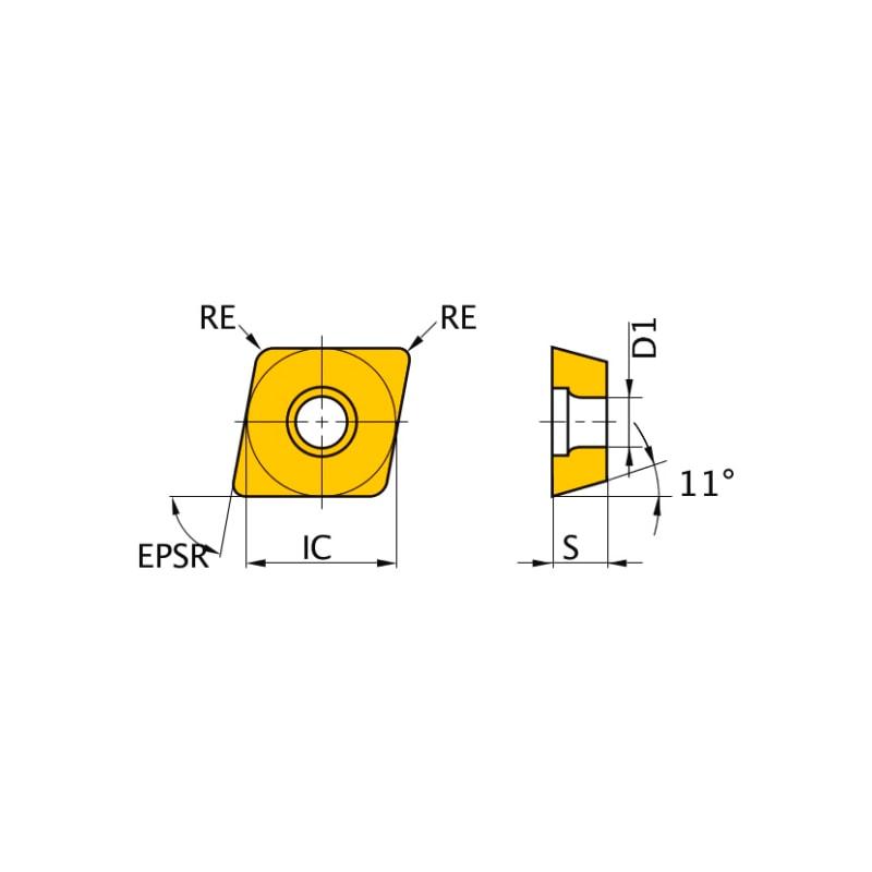 NP-CPGB080204GA2 MB8025 MITSUBISHI, WSP, Drehen, CBN - CPGB, Wendeschneidplatte