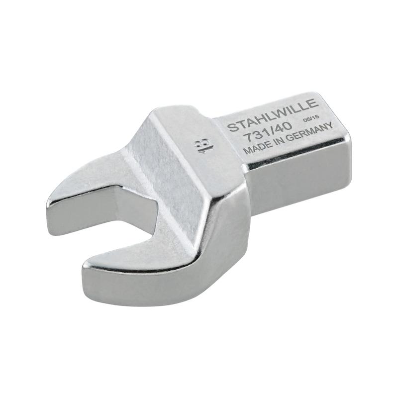 STAHLWILLE Maul-Einsteckwerkzeug 13 mm, Einsteckvierkant 14x18 mm - Maul-Einsteckwerkzeug