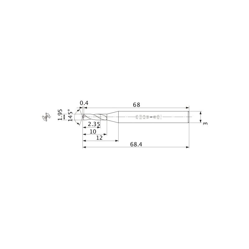 MWS0195SB VP15TF MITSUBISHI, MINI VHM-Bohrer, beschichtet - MWS, Mini VHM-Bohrer, beschichtet