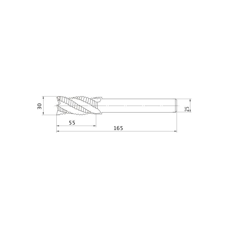 VAMRD3000 MITSUBISHI, HSS-Schaftfräser - VIOLET beschichtet - VAMR, Schaftfräser