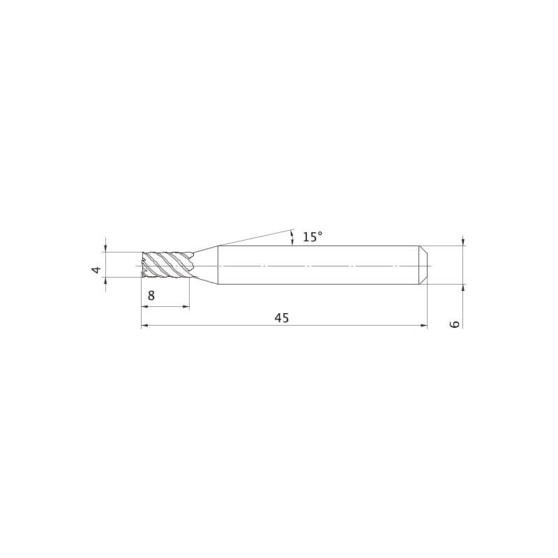 VFSDD0400 MITSUBISHI, VHM-Fräser, beschichtet - VFSD, Schaftfräser