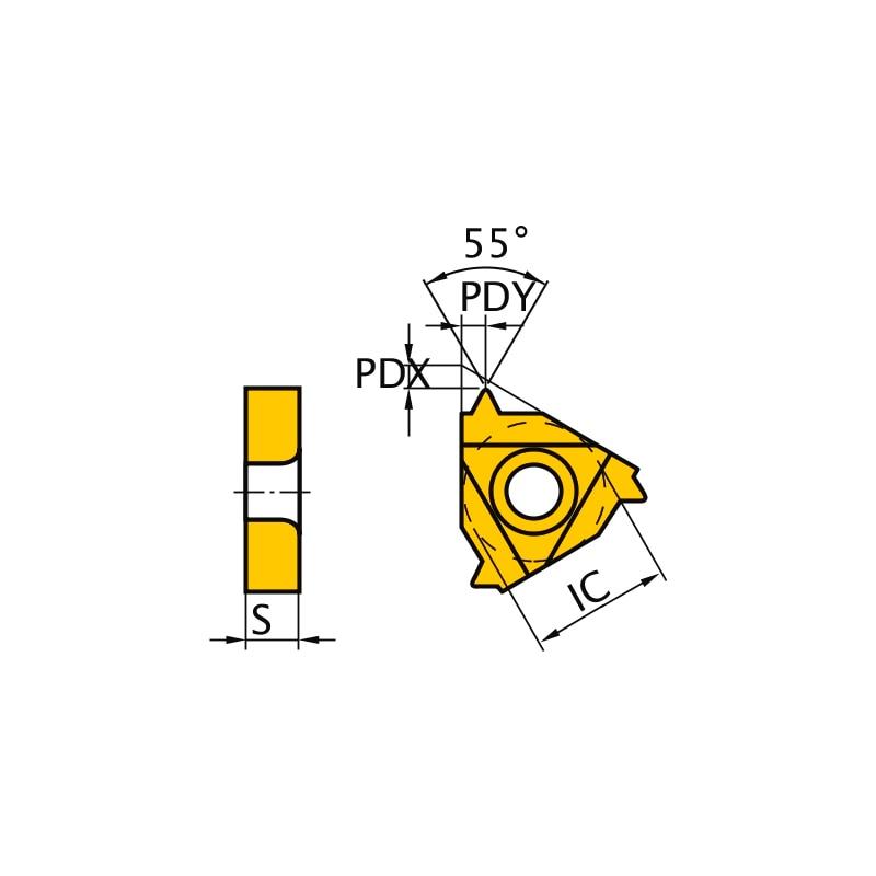 MMT22ER070W VP10MF MITSUBISHI, WSP, Gewindeschneiden, beschichtet - MMT22ER, Wendeschneidplatte