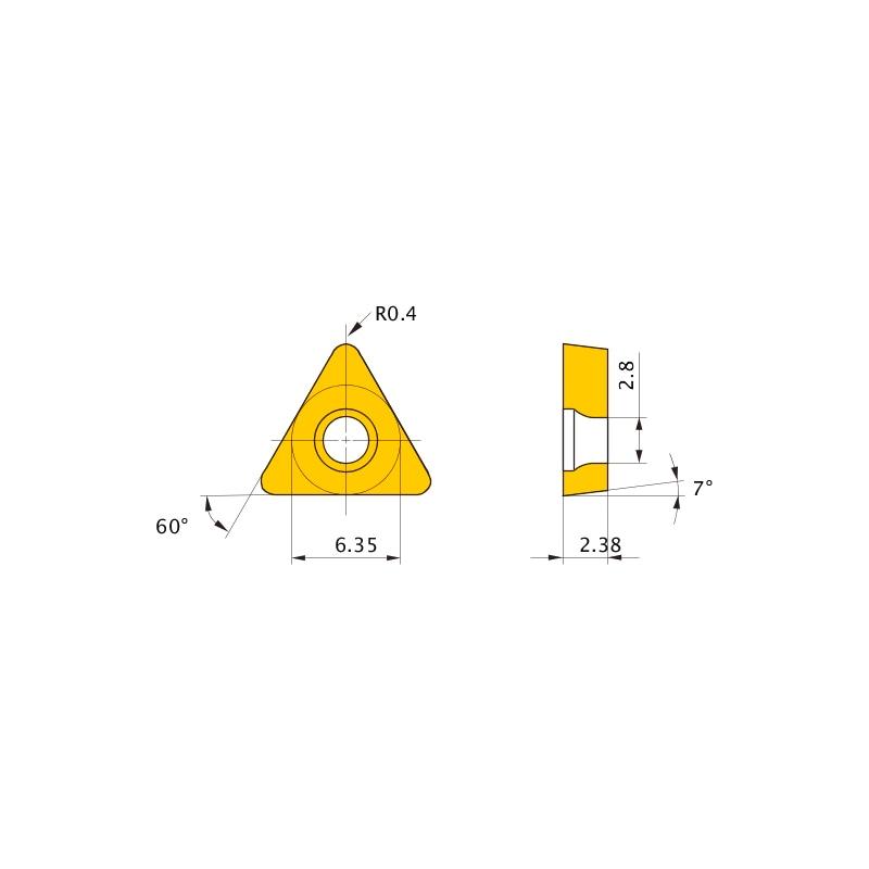 TCMW110204 MC5005 MITSUBISHI, WSP, Drehen, beschichtet - TCMW, Wendeschneidplatte