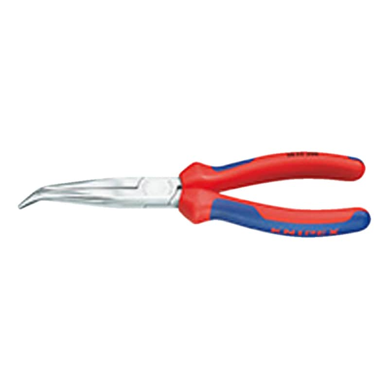 KNIPEX teknisyen pensesi 200 mm, krom kaplı kafa 2 parçalı tutma saplı 38 25 200 - Mekanik pense, eğik, 2 bileşenli kavrama sapı kılıfı