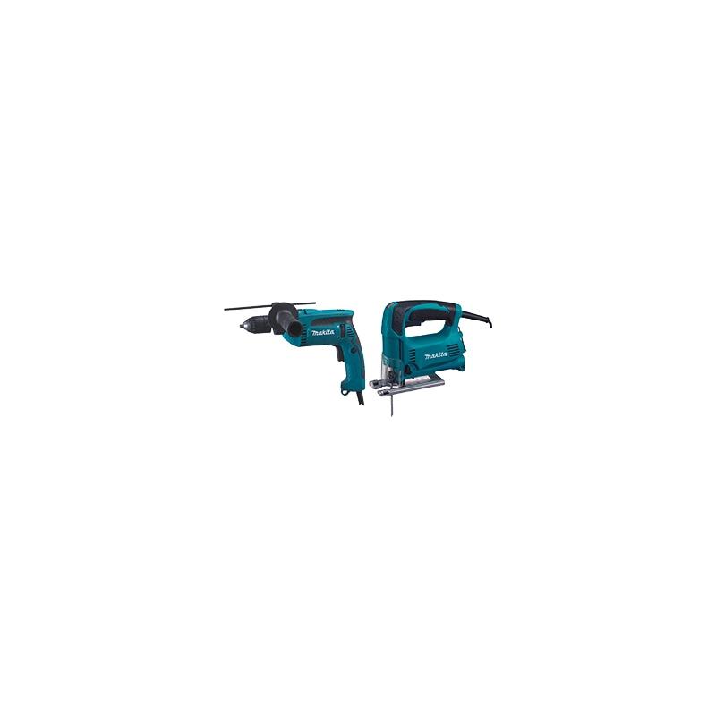 MAKITA Set Stichsäge 4329 + Schlagbohrmaschine HP1641 - Set Stichsäge 4329 + Schlagbohrmaschine HP1641  OUTLET