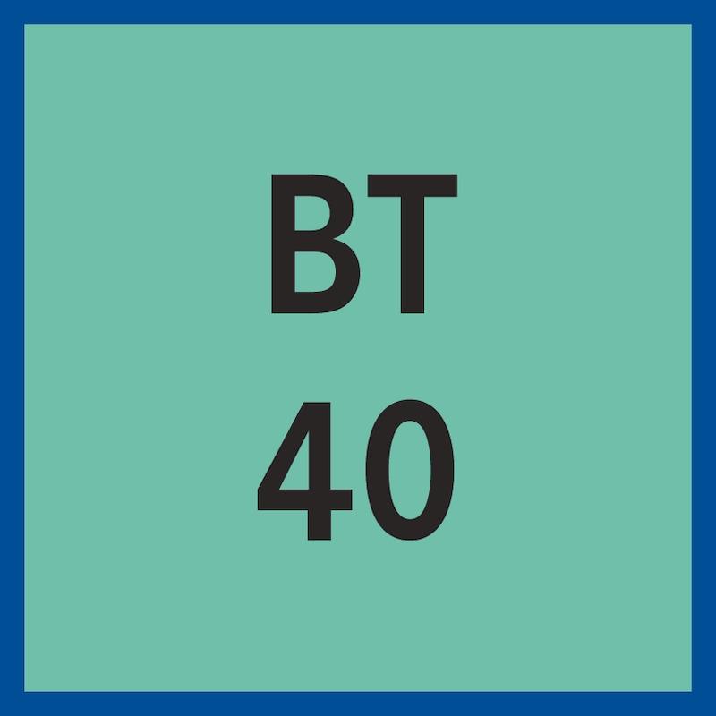 Mandrin frettage BT40, fin, 3°, D16 A120, ISO 7388-2, alim lub. réfrig. type J - Mandrin de frettage, 3degrés