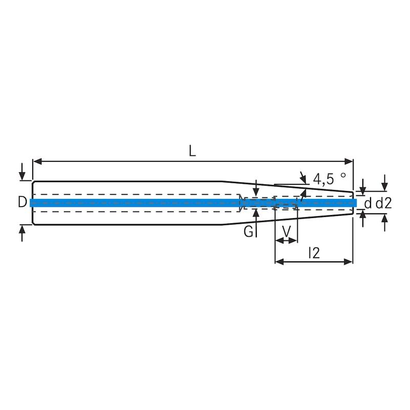 Extensiones de ajuste por contracción ATORN d1=32 mm d=6 mm L 150mm e ICS - extensiones de ajuste por contracción con IC