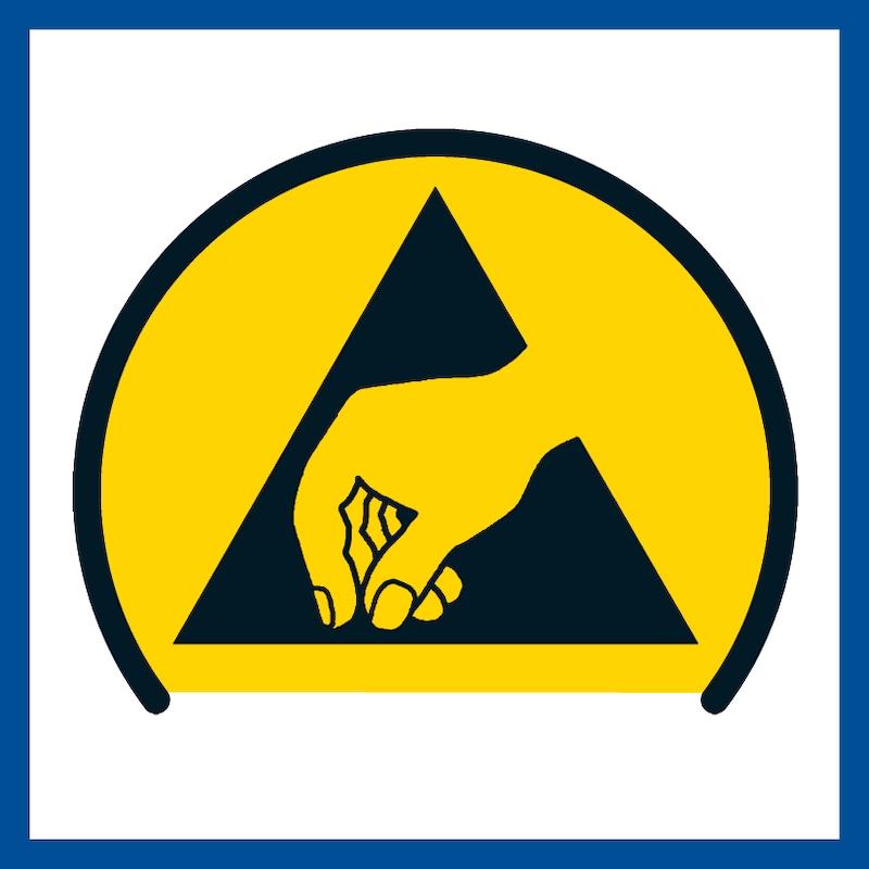 BIMOS munkahelyi forgószék, ESD Basic, görgőkkel és műbőrrel, fekete - ESD-Basic munkahelyi forgószékek