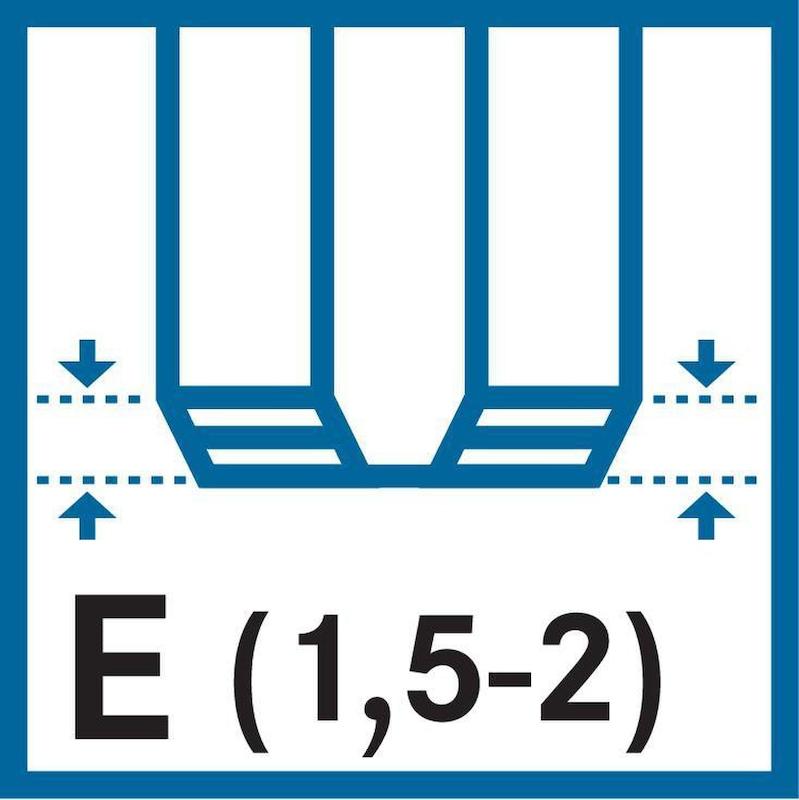 ATORN taraud HSSE V3 vap. E 40° M16 2,0 ISO2 D<2,5xD CNC ; des. UNI - Taraud, HSSE V3 (découpe en E courte) M ISO 2 (6H) 40° (droite) 371 E