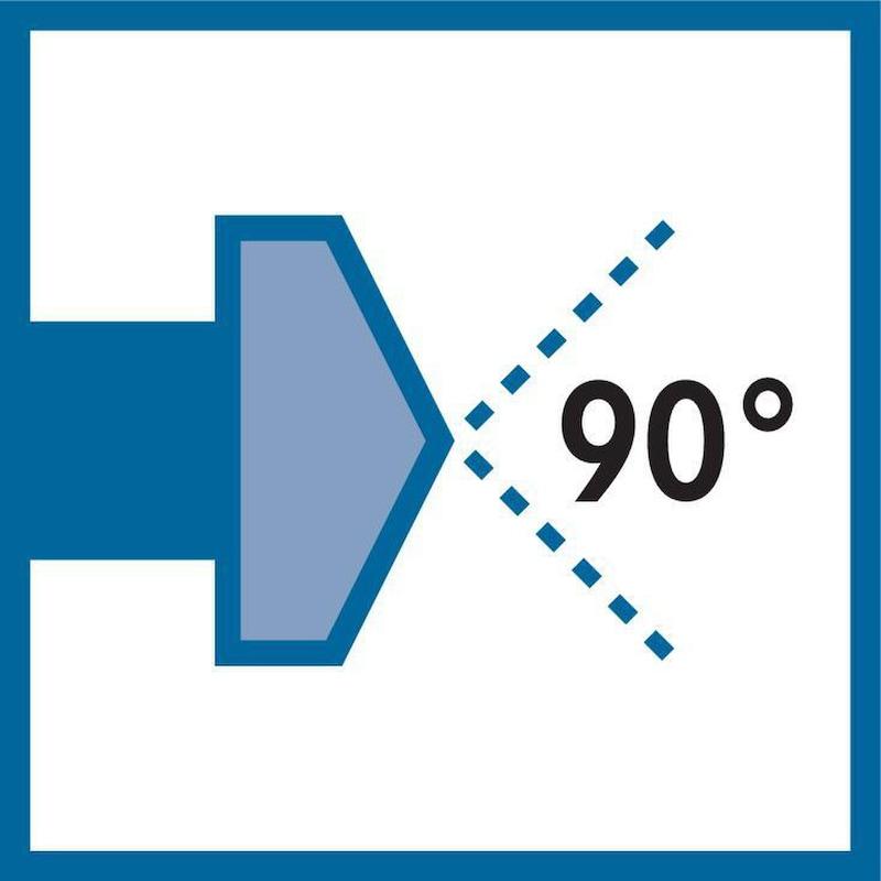 ORION Kegelsenker-Satz 90 Grad HSS Z=3 extrem ungleich geteilt 6,3-20,5 mm - Kegelsenker-Satz 90° HSS Dreischneider extrem ungleich geteilt |AKTION
