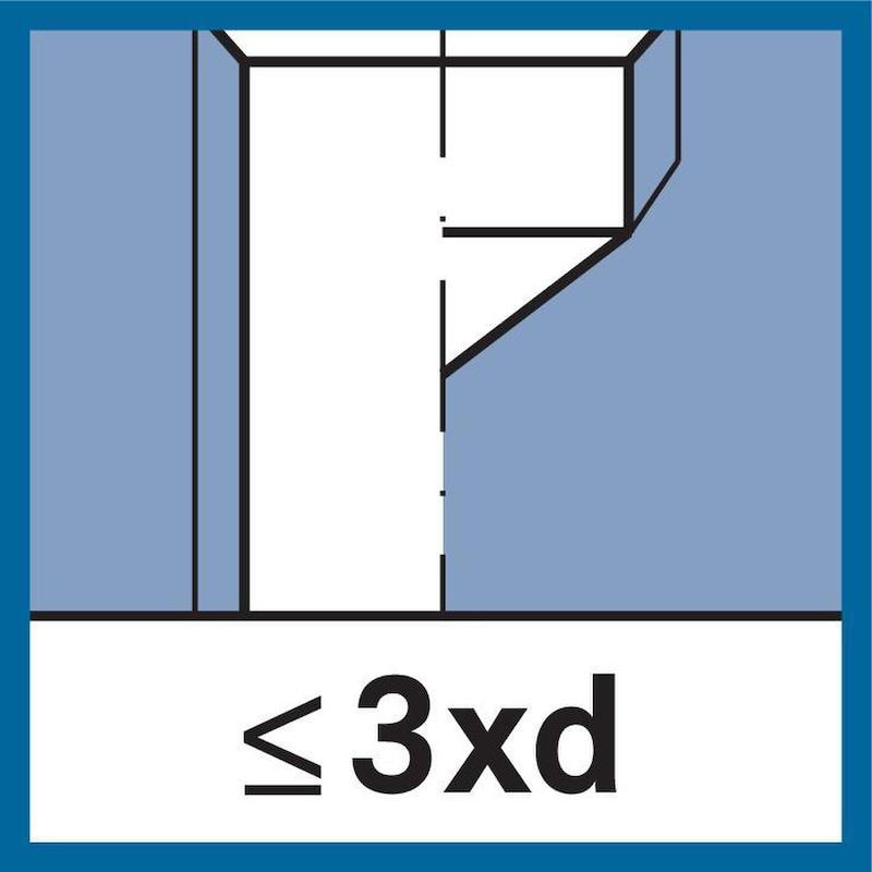 ATORN taraud à main HSS A/D/C 352 0 degré M5 0,8 mm ISO2 D/S≤3xD - Jeu de tarauds à main, HSS M ISO 2 (6H) 0° 352 A/D/C