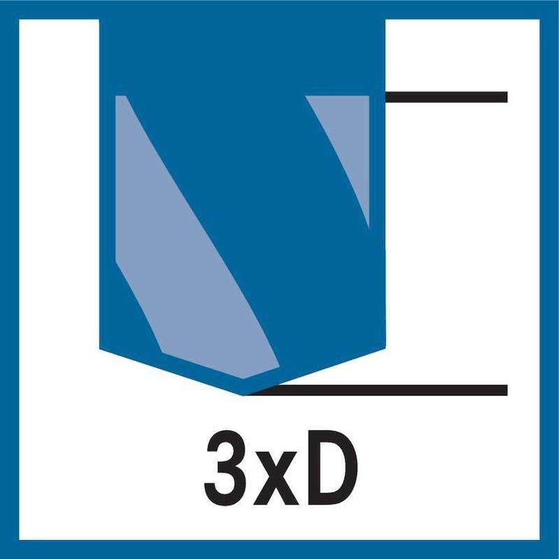 ATORN tömör keményfém fúró, UNI TiAlNplus, 3xD, BH nélkül, 18,0 mm, heng.szár,HA - Nagy teljesítményű fúró, tömör keményfém TiAlNplus HPC 3xD belső hűtés nélkül, HA