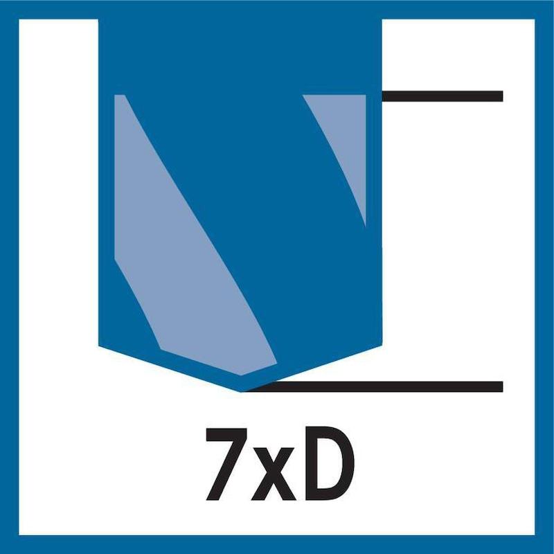 ATORN yüksek perf. matkap, SC TiAlNplus, HPC 7xD 9,1mm x 10mm x 142mm, HB iç - Yüksek performanslı matkap, sert karbür TiAlNplus HPC 7xD HB
