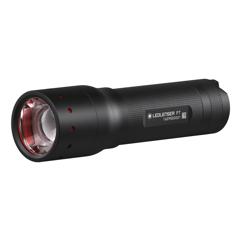 LED LENSER Stablampe P 7 inkl. Batterien und Tasche - Hochleistungslampe P 7