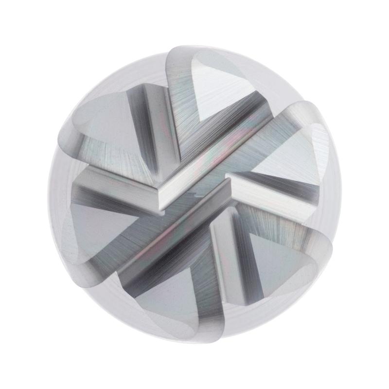 Fresa tór. multid. ORION HPC, cortador corto, D 16,0x16x16x93mm, man. cilín. r=2 - Fresa tórica multidiente HPC de metal duro completo