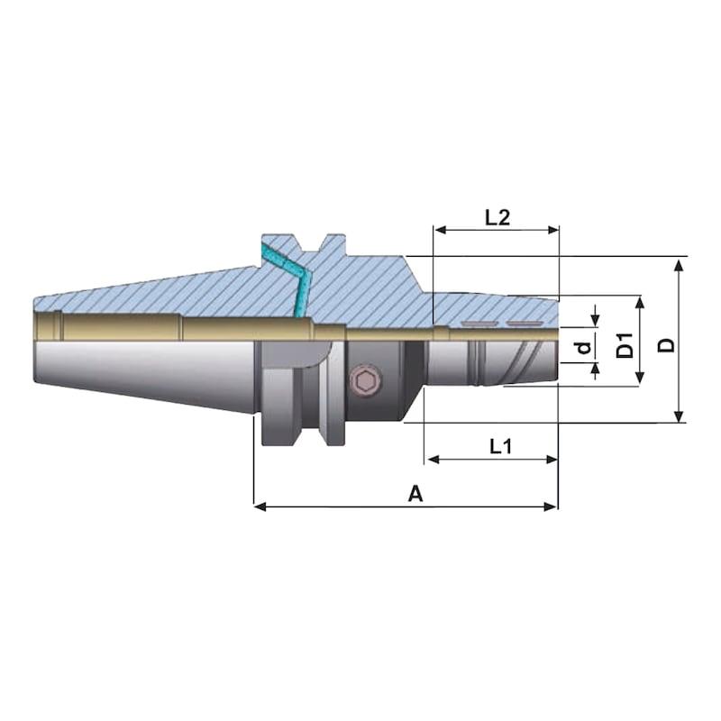 406.65.10.90 EROGLU, Hydro-Dehnspannfutter JIS B 6339 (MAS 403 BT) BT AD/B 40 10-90 - Hydrodehnspannfutter