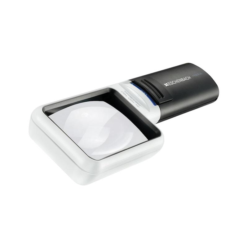 ESCHENBACH LED-Leuchtlupe 4-fach Vergrößerung Linse 4-eckig 75x50 mm - Taschen-Leuchtlupen